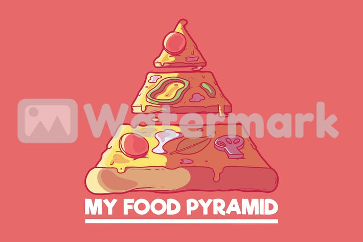 Meine Lebensmittel-Pyramide