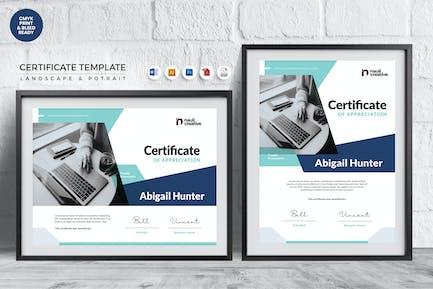 Professional Certificate Template Vol.24