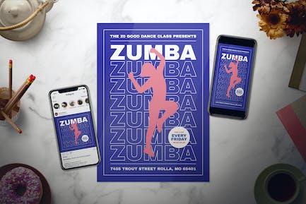 Zumba Flyer Set