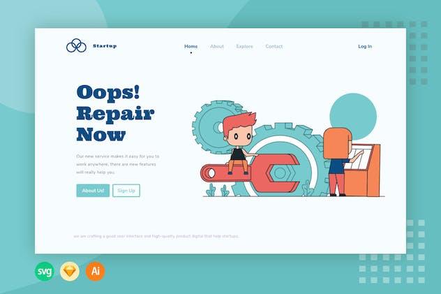 Repair - Website Header - Illustration