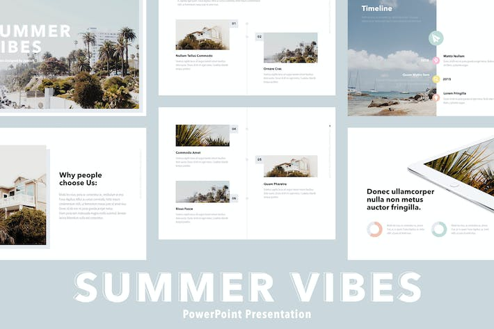 Thumbnail for Summer Vibes PowerPoint Template