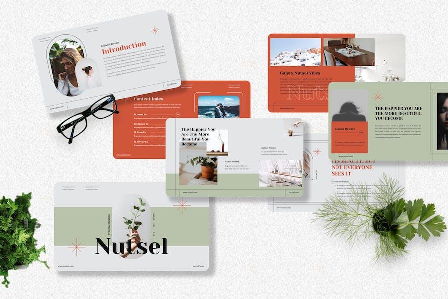 Nutsel - Brand Social Media Powerpoint Template