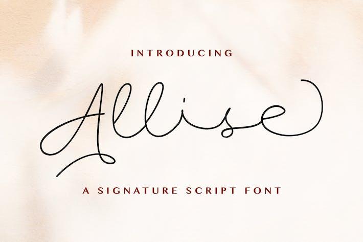 Thumbnail for Allise - Signature Script Font
