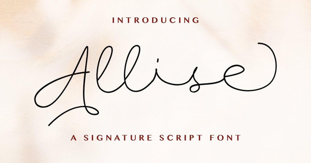 Download Allise - Signature Script Font by StringLabs