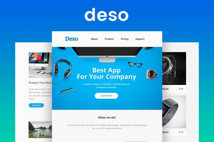 Thumbnail for Deso - Responsive Email & Newsletter Template