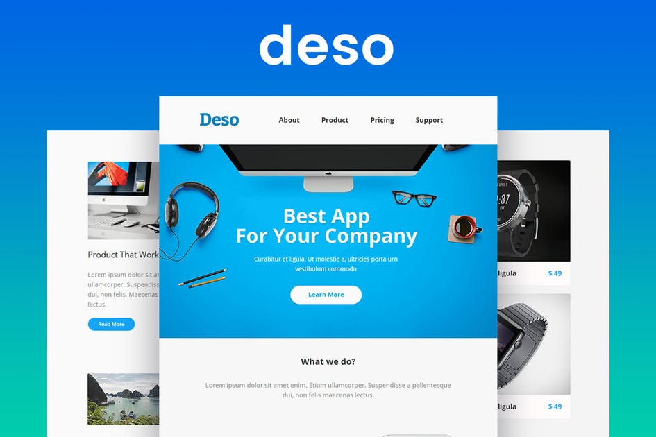 Download Deso - Responsive Email & Newsletter Template by MaestoMail