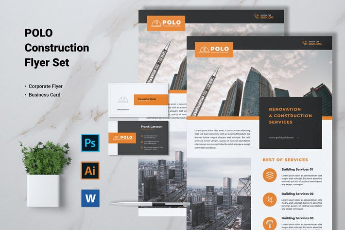 Thumbnail for POLO Construction Flyer & Business Card