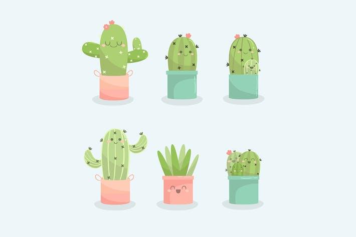 Thumbnail for Cactus Handgezeichnete Sammlung