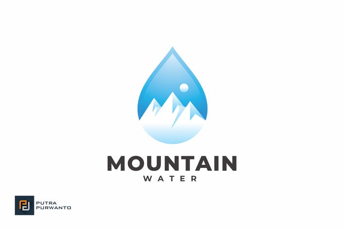 Thumbnail for Mountain Water - Logo Template