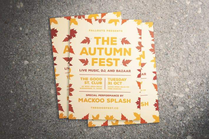 Thumbnail for Autumn Festival Flyer