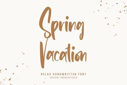 Vacances de printemps - Relax Police manuscrite