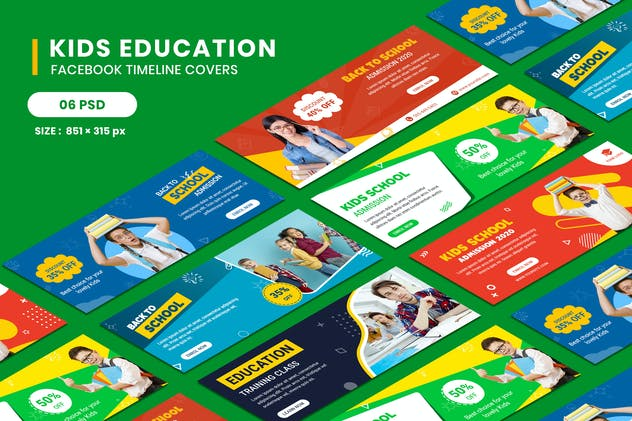 Kids Education Facebook Timeline Covers