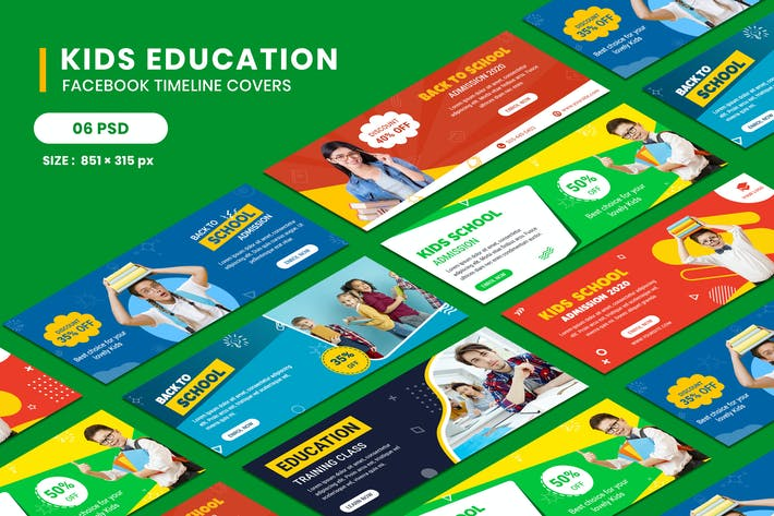 Thumbnail for Kids Education Facebook Timeline Covers