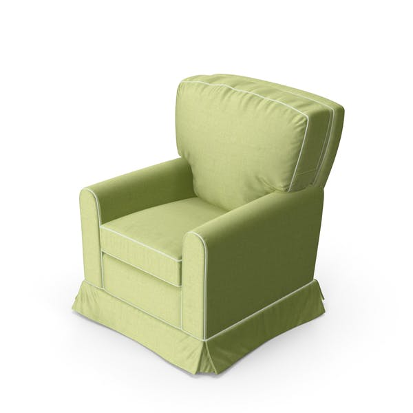 Thumbnail for Green Swivel Armchair