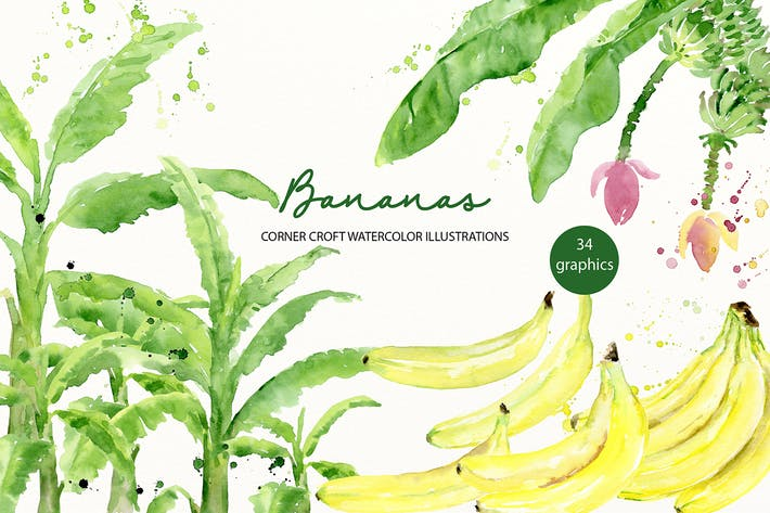 Thumbnail for Aquarelle Banane Illustration