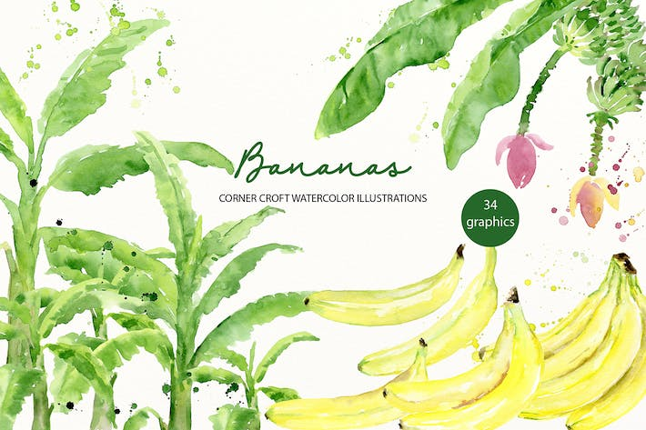 Thumbnail for Aquarell Banane Illustration