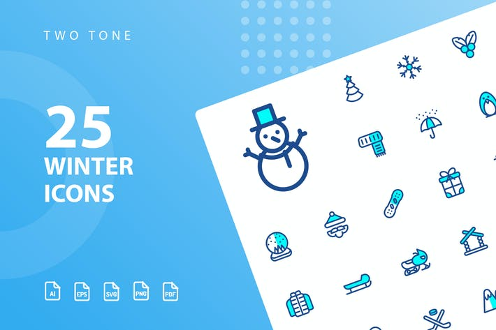 Thumbnail for Winter Two Tone Icons