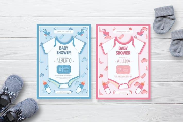 Thumbnail for Baby Shirt - Baby Shower Einladung