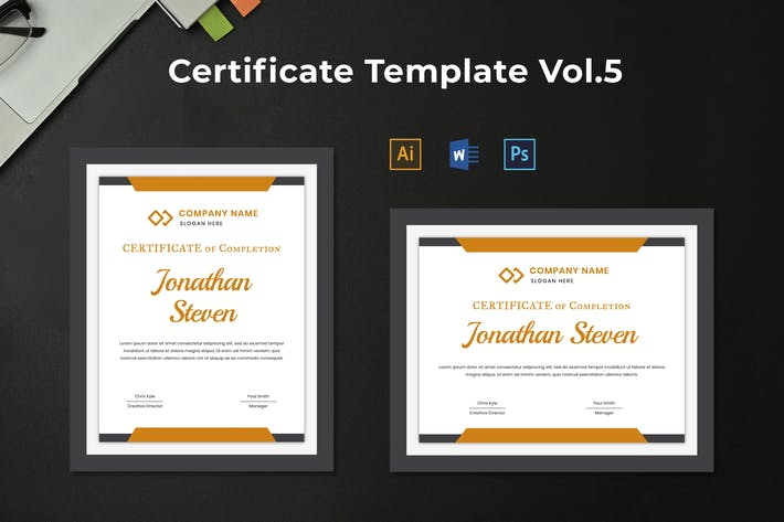 Thumbnail for Certificate Template Vol.5