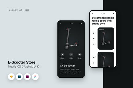 E-Scooter Store iOS Mobile UI Kit