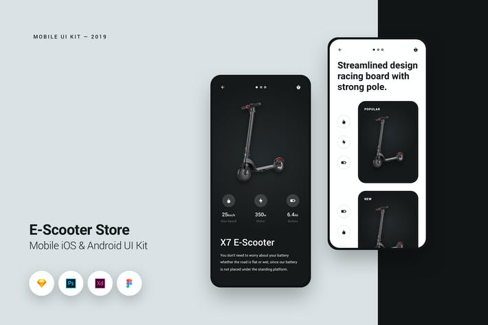 Thumbnail for E-Scooter Store iOS Mobile UI Kit