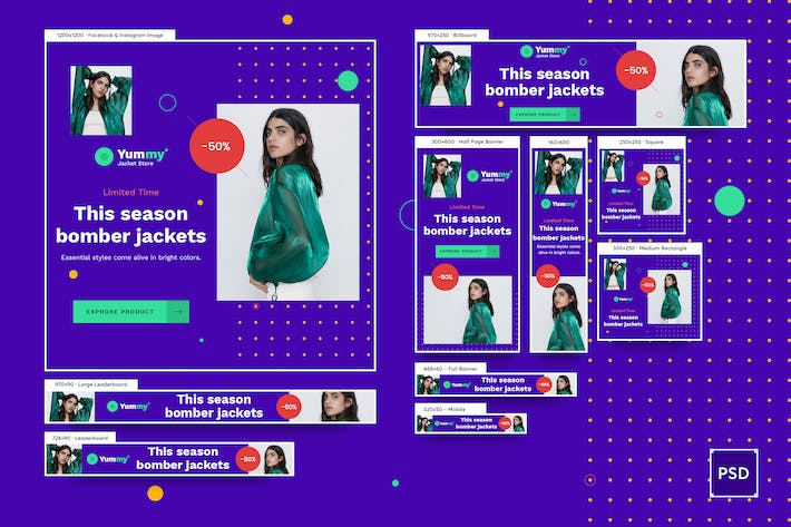 Thumbnail for Fashion Banners Ad PSD Template