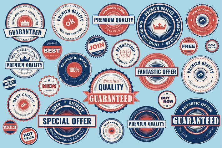 Thumbnail for Collection Retro Sale Labels Social Media Ads