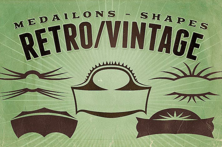 Thumbnail for Retro/Vintage shapes - Medailons
