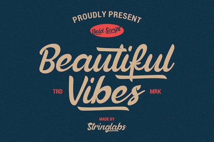 Thumbnail for Beautiful Vibes - Bold Script Vintage Font rétro