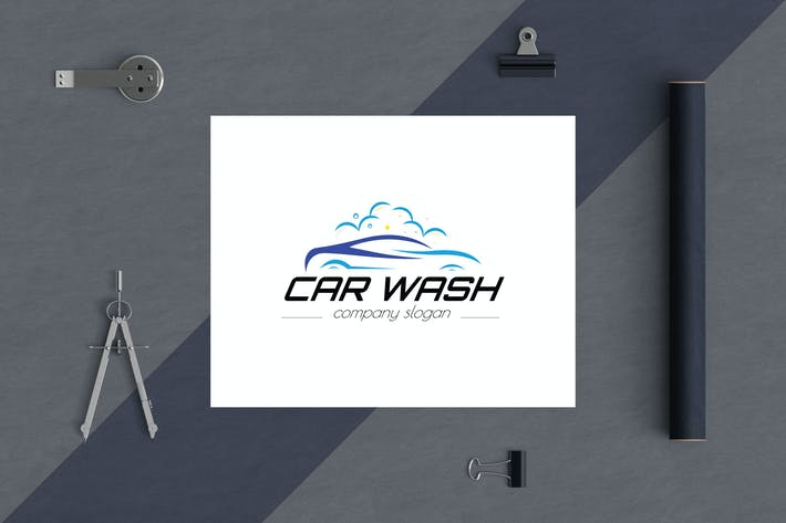 Cover Image For Car Wash Business Logo Template