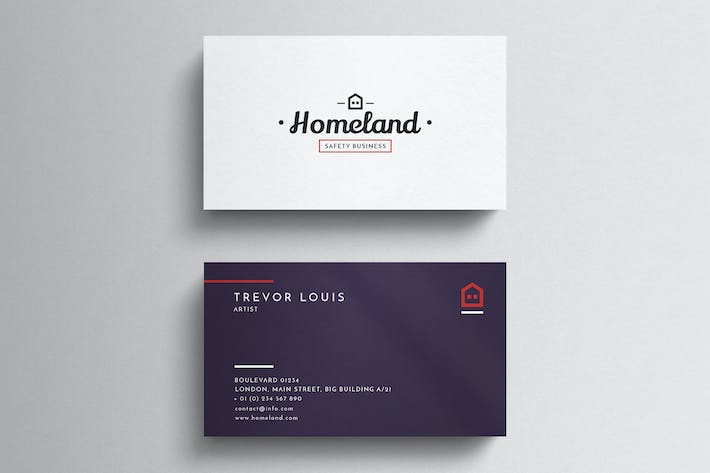 Download 6923 business card templates envato elements thumbnail for minimal business card wajeb Images