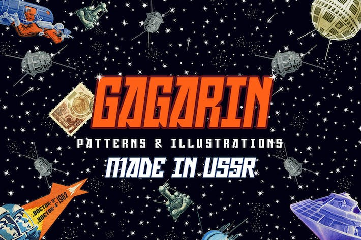Thumbnail for Gagarin - Patterns & Illustrations