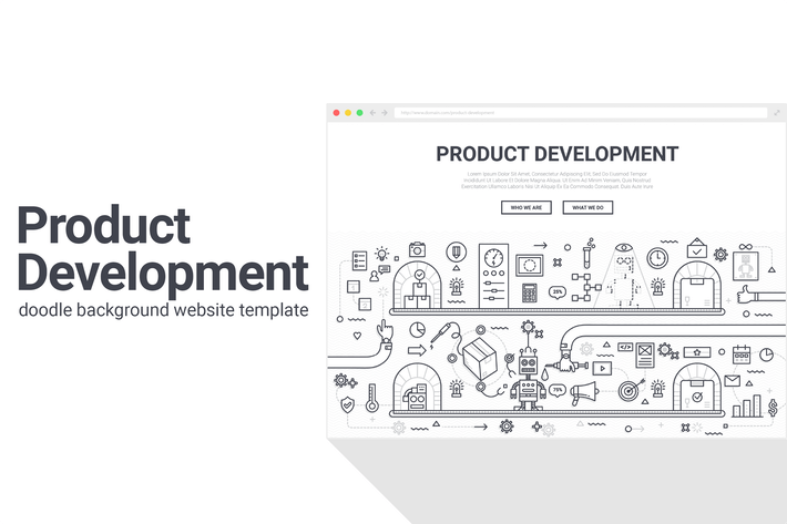 Thumbnail for Product Development Doodle Background Template