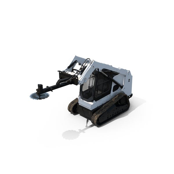 Thumbnail for Compact Tracked Loader with Saw