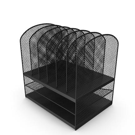 Desktop-Organizer aus schwarzem Netzfach