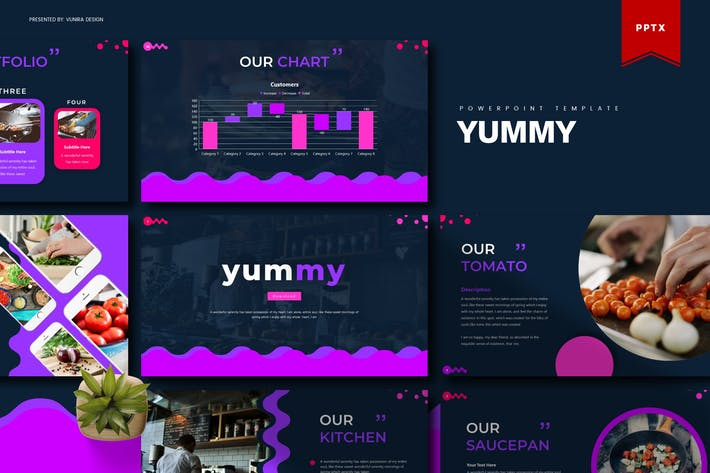 Thumbnail for Yummy | Шаблон Powerpoint