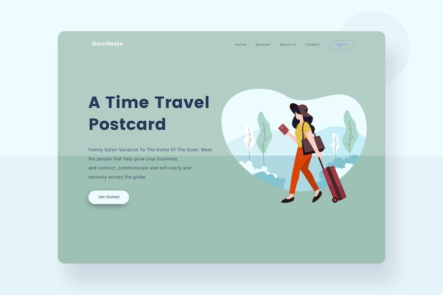 Travel Packing landingpage header Illustration