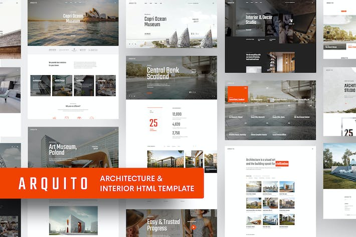 Thumbnail for Arquito - 3D Architecture & Interior HTML Template
