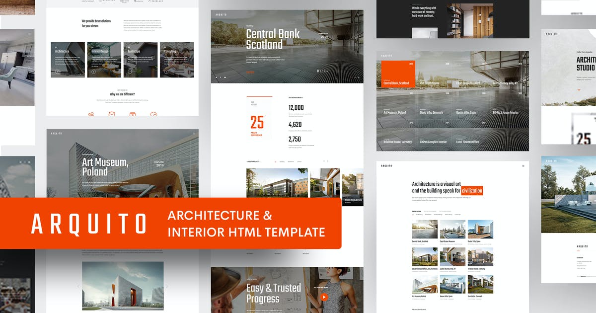Download Arquito - 3D Architecture & Interior HTML Template by paul_tf