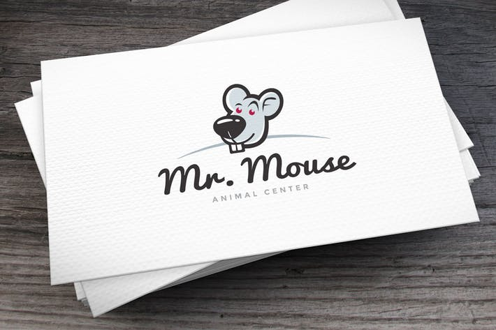 Cover Image For Mr. Mouse Logo Template