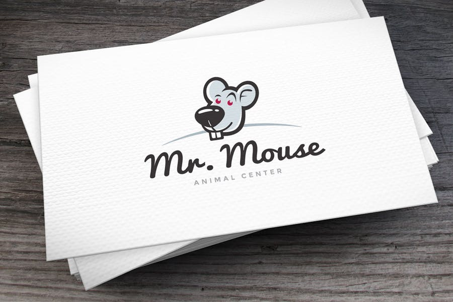 Mr. Mouse Logo Template