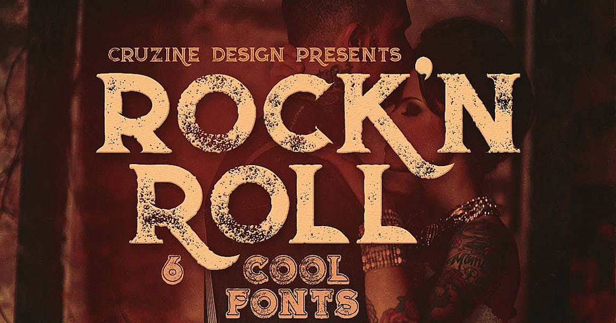 Download Rock'n Roll Typeface by cruzine