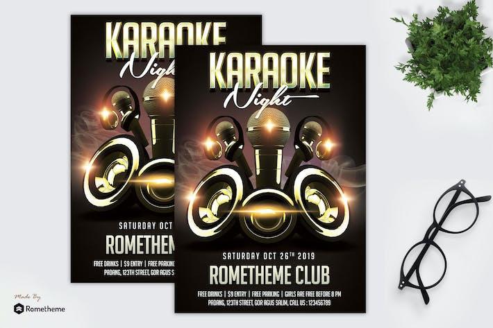 Thumbnail for Karaoke Night Flyer Template vol. 02 MR