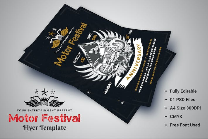 Thumbnail for Motor Bike Festival - Flyer