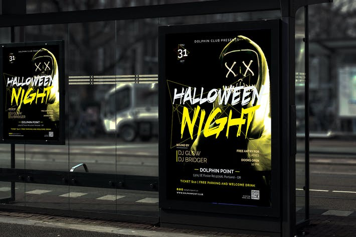 Thumbnail for Night - Halloween Party Poster RY
