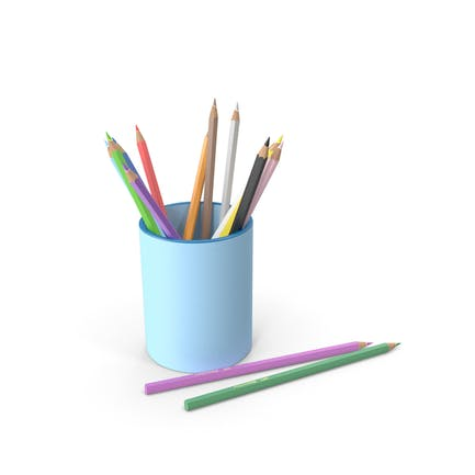 Penholder With Pencils