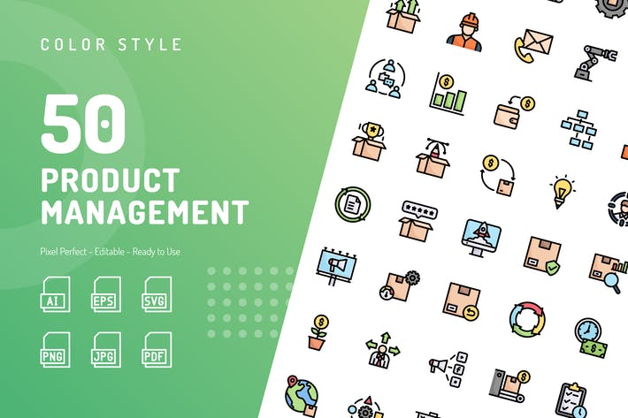 Product Management Color Icons