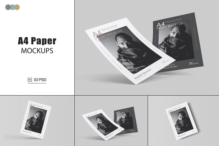 Thumbnail for A4-Papier-Mock-ups Vol.2