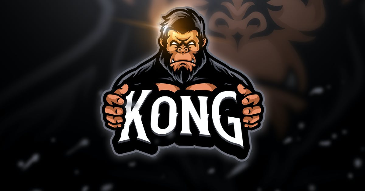 Kongs 2 - Mascot & Esport Logo by aqrstudio