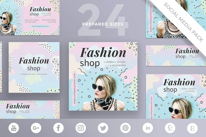 Fashion Shop Social Media Pack Template